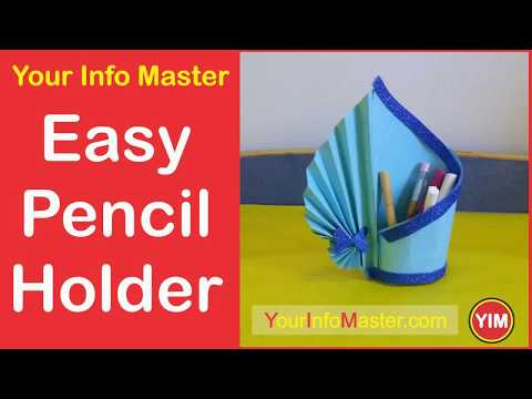 How to Make an Easy Paper Pen Holder by YIM | Home Decor