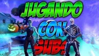 JUGANDO CON SUBS ARG LVL 97 / META DE SUBS  PARA JUGAR CON SUBS:655 // FORTNITE