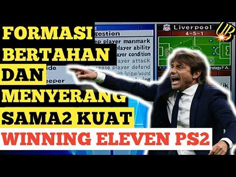 PS2 | FORMASI BERTAHAN DAN MENYERANG WINNING ELEVEN PS2