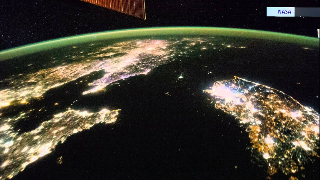 Difference North And South Korea. Space