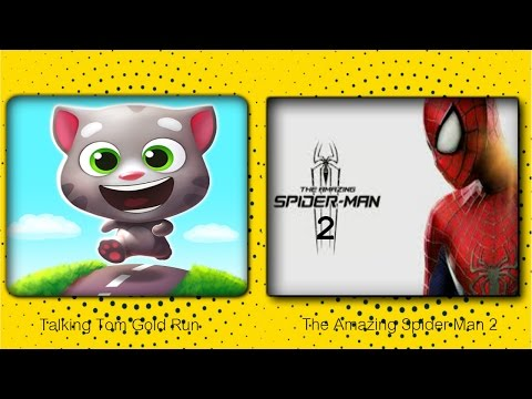 ►Talking Tom Gold Run VS The Amazing Spiderman 2 -Android Game Play HD By games hole