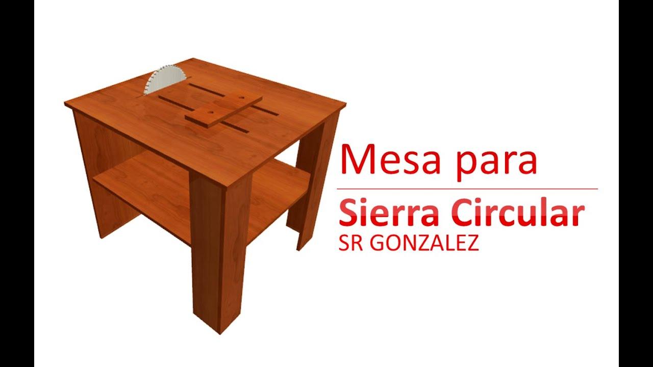 Mesa de trabajo para sierra circular carpinter a youtube for Mesa sierra circular