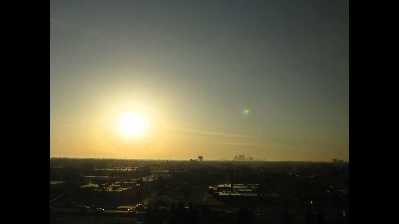moon and sun rise together over minneapolis youtube