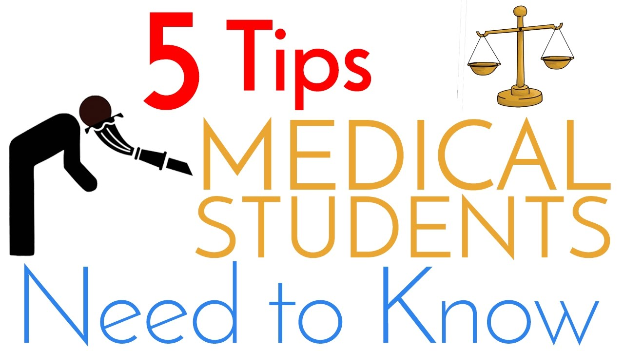 5 Tips Every Medical Student Needs To Know Youtube