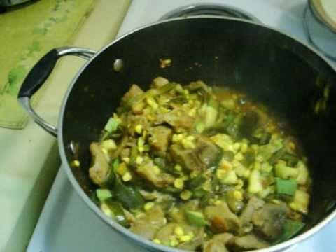 Receta de carne de puerco a la poblana guisados con - Guiso de carne de cerdo ...