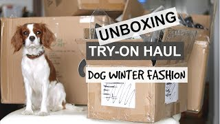 UNBOXING TRY-ON HAUL | Dog Winter Fashion| Dog Winter jackets & sweaters