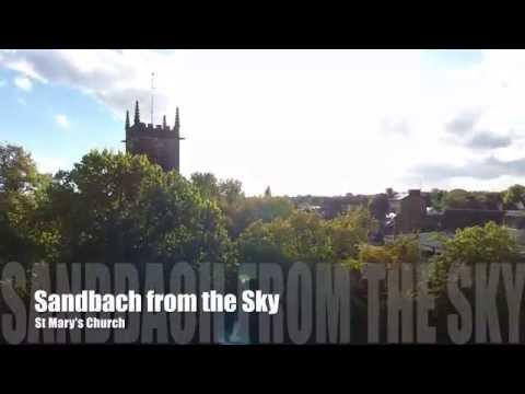 Sandbach from the Sky - St Mary