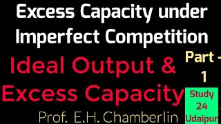 Excess Capacity under Imperfect Competition (Monopolistic Competition) || Chamberlin Excess Capacity
