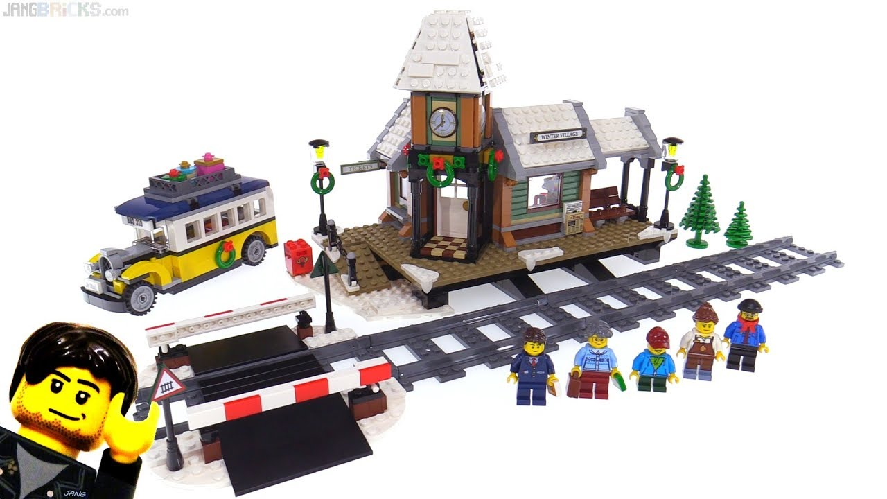 Lego Creator Winter Village Station Review 10259 Youtube