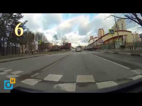 ул. Говорова в Одинцово с самым большим количеством лежачих полицейских