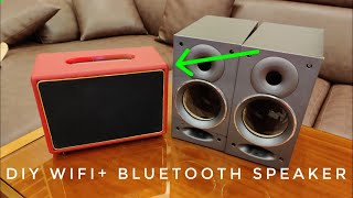DIY Wifi + Bluetooth Speaker With Home Assistant  from Old Bookshelf Speaker )