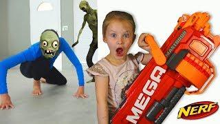 Bad Baby Zombie Apocalypse 2 Зомби Апокалипсис НЕРФ ВОЙНА Nerf War 2