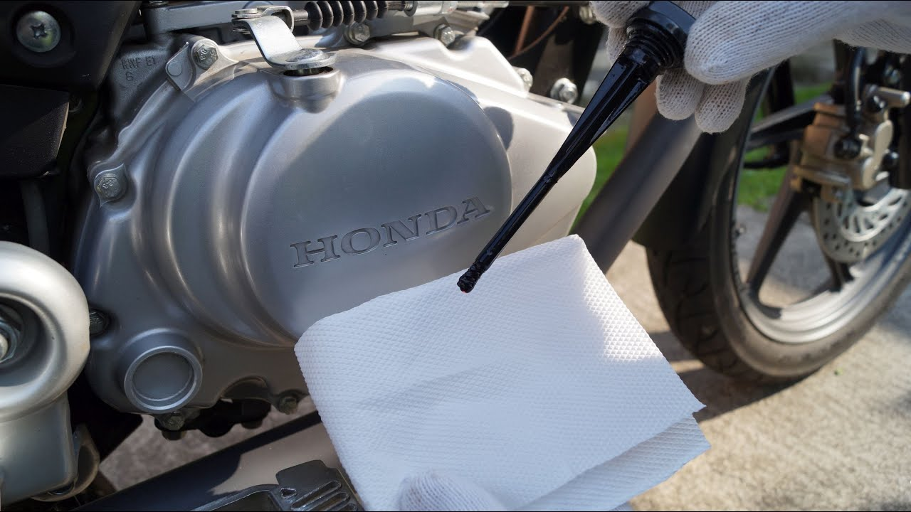honda cbf  oil level check youtube