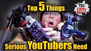 Top 5 items that every YouTuber needs to be successful