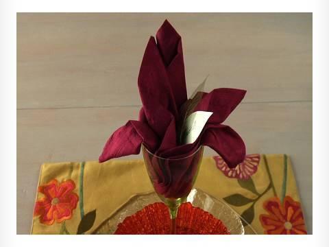 ballerina napkin folding instructions