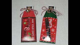 DIY~Coffee Pouch D.T. Christmas Tags For Craft Fairs! Inexpensive & Easy!