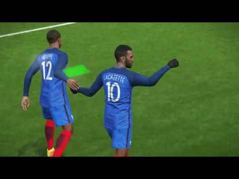 PES 2018 Gameplay - MY FIRST GAME - FRANCE VS FRANCE