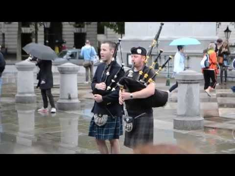 Awesome Bagpipe Player Performs