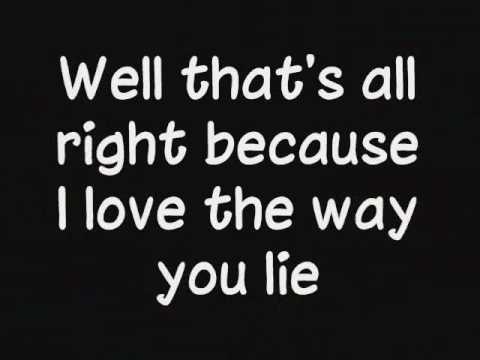 Eminem Ft Rihanna Love The Way You Lie Lyrics
