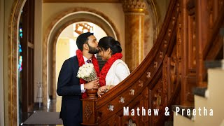 Mathew & Preetha Christian wedding highlights.
