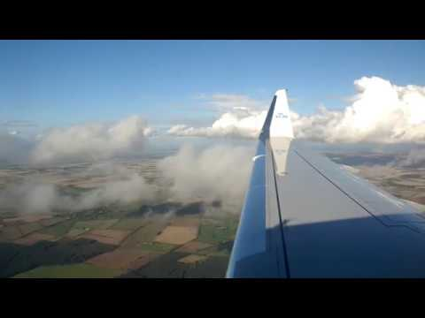 ONBOARD - KLM E175 KL1489 Amsterdam Schiphol To Humberside Airport