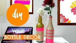 DIY ✂ Yarn wrapped BOTTLE //VASE-Room DECOR    Pin