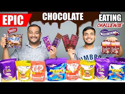 EPIC CHOCOLATE EATING CHALLENGE | Dairy Milk Silk Chocolate Eating Competition | Food Challenge