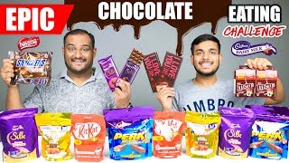 EPIC CHOCOLATE EATING CHALLENGE | Dairy Milk Silk Chocolate Eating Competition | Food Challenge