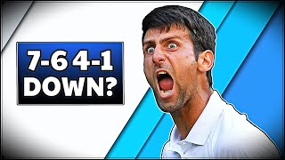The Day When Djokovic Won a Match After Being 7-6 4-1 Down