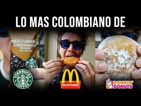 McDonalds, Starbucks y Dunkin Donuts en Colombia | FRIJOLES en McDonalds