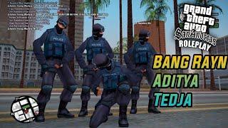COLLAB JADI ANGGOTA FBI BERSAMA 3 YOUTUBER KAMVRET! BANG RAYN, ADITYA DAN TEDJA - GTA SA ROLEPLAY