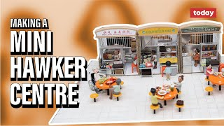 Clay artists create miniature hawker centre