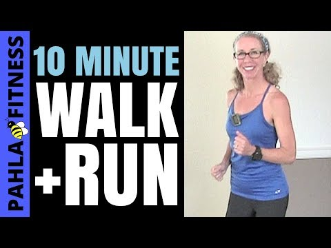 *Quick* 10 Minute Indoor RUNNING + WALKING Workout with Beginner Intervals | Learn to Run at Home
