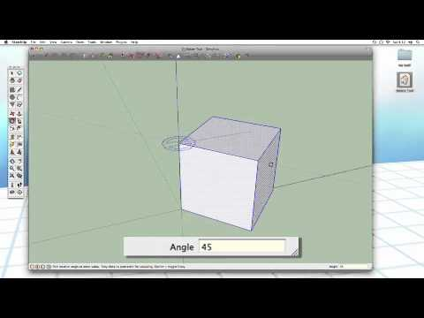 Sketchup #10: The Rotate Tool