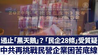 又要變臉?中共「民企新28條」受質疑 再挑戰民營企業困苦底線|新唐人亞太電視|20191228
