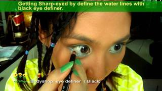 *.:。✿*゚hippie (happy) & (crazy) Afro゚・✿.。.:* (2 Styles In 1 Make-up)