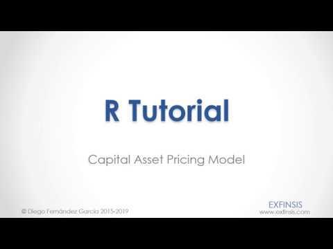 R Tutorial. CAPM Capital Asset Pricing Model