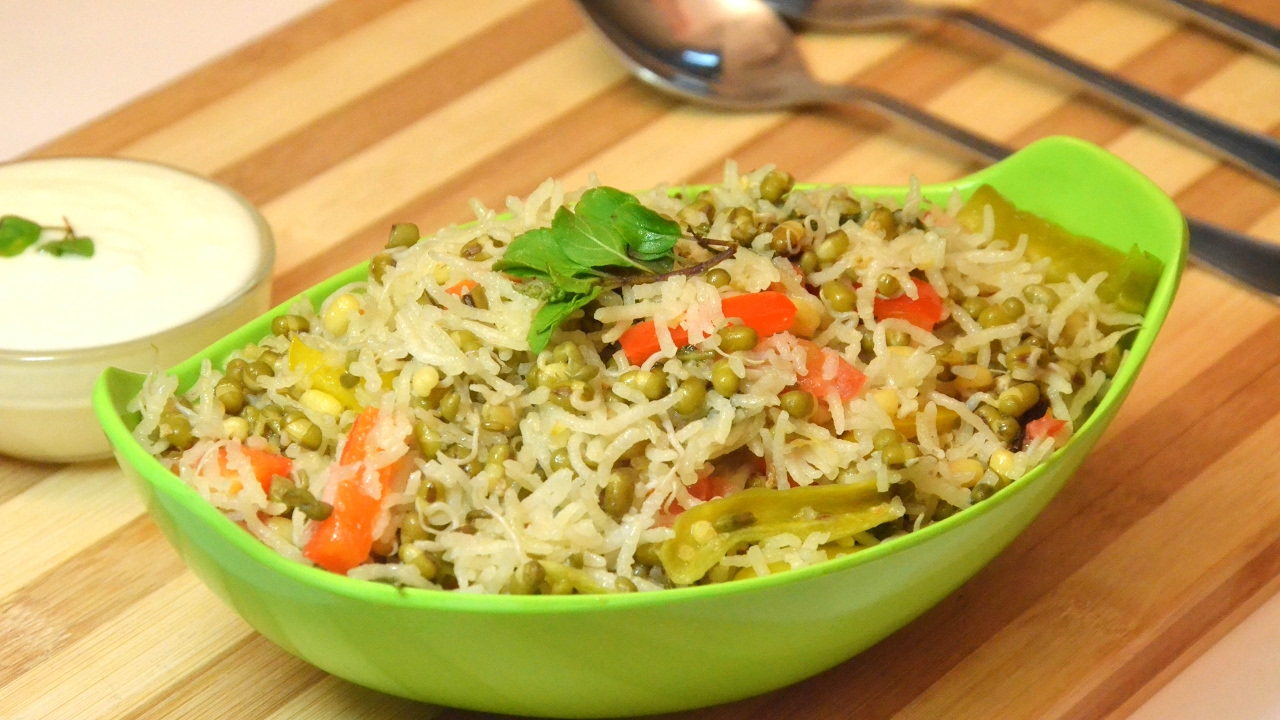 Sprouts pulao l protein rich pulao l sattvic recipes youtube sprouts pulao l protein rich pulao l sattvic recipes forumfinder Choice Image