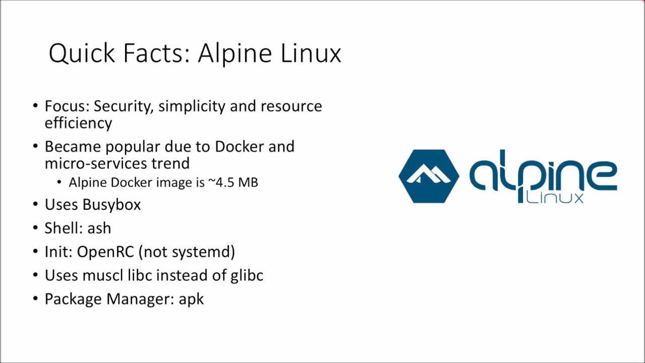 What is Alpine Linux | Alpine Linux Quick Facts