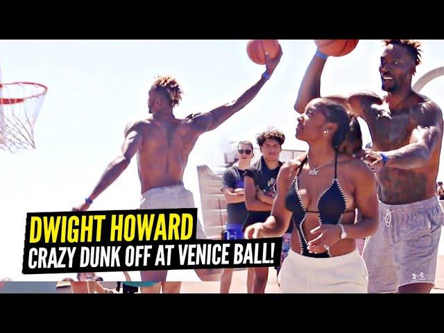 Dwight Howard Has a CRAZY DUNK OFF vs Pro Dunker Chris Staples at Venice Beach!!