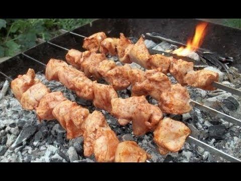 Как приготовить шашлык из курицы на мангале