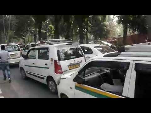 Dharna ola uber and delhi govt 16/2/2018(3)