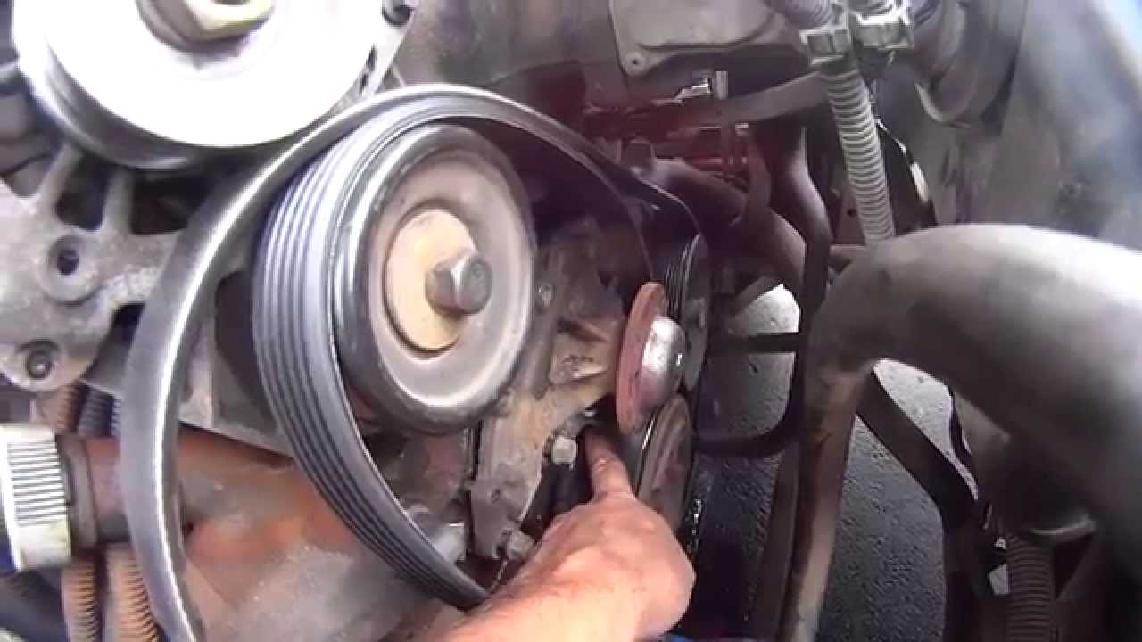 how to fix & replace 2001 chevy gm camaro 3 8 liter 3800 v6 water pump