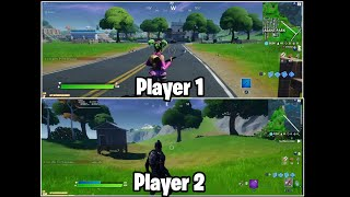 How to PLAY FORTNITE SPLIT SCREEN (Tutorial+Gameplay)