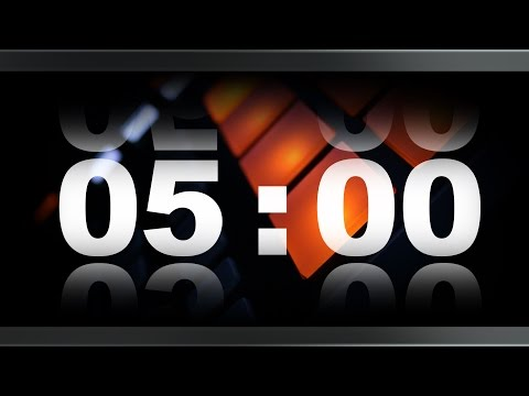 Countdown Timer 5 minute ( v 409 ) TIMER with sound/music effects 4k