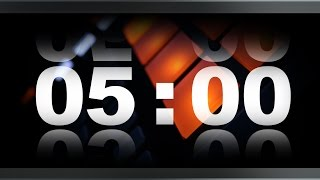 Countdown Timer 5 minute ( v 409 ) TIMER with sound/music effects HD 4k