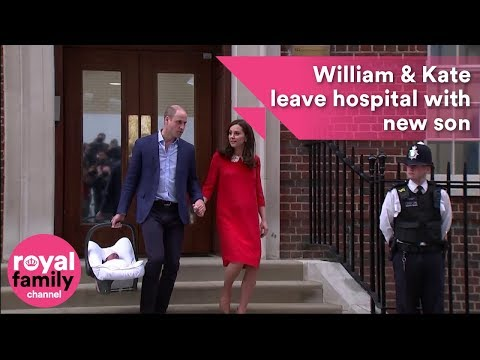 Royal Baby: Prince William and Kate leave hospital with new son