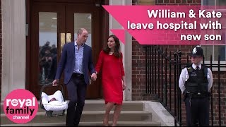 Video: Duchess of Cambridge leaves hospital with third child