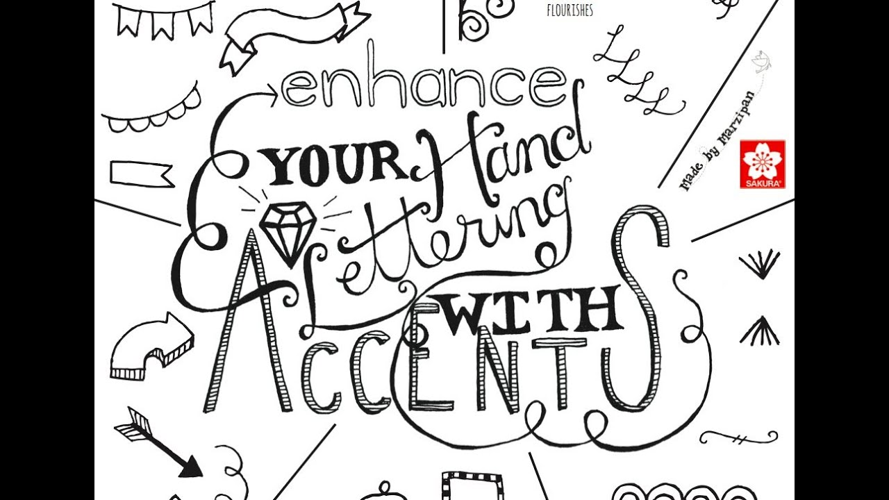 Hand Lettering Accents Youtube