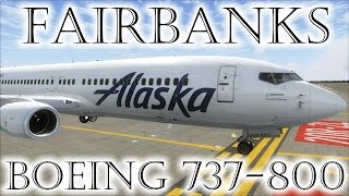 FSX | Alaska Airlines 737 Landing at Fairbanks (PAFA) (Multiple Views)